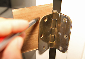 Fix door not latching using a shim & Repair door not latching - how to fix