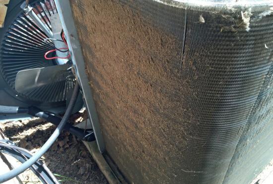 dirty air compressor coil