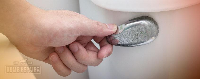 Toilet handle is broken