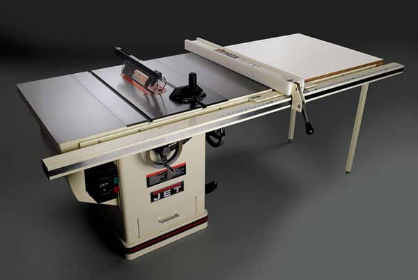 Large cabinet table saw example