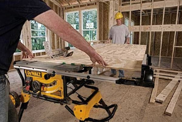 Contractors using table saw
