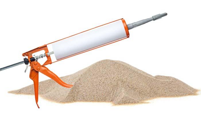 caulk with sand example