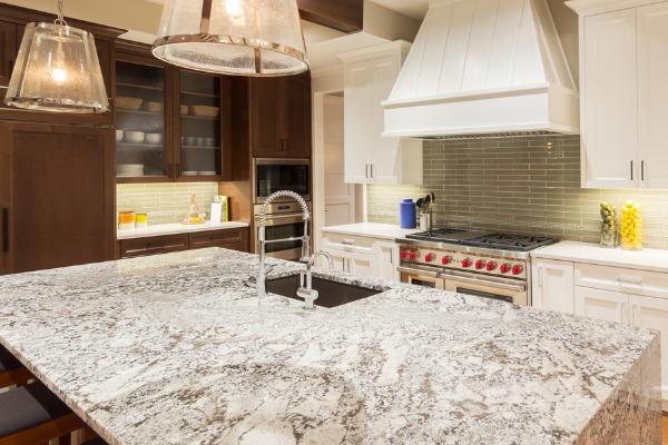 clean quartz countertop