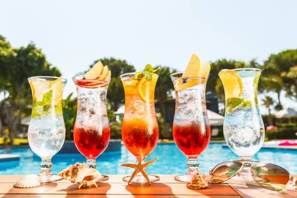 cocktails near the pool