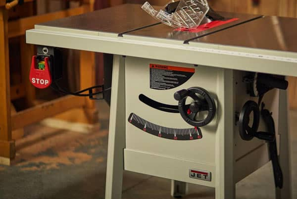 Hybrid grade table saw example
