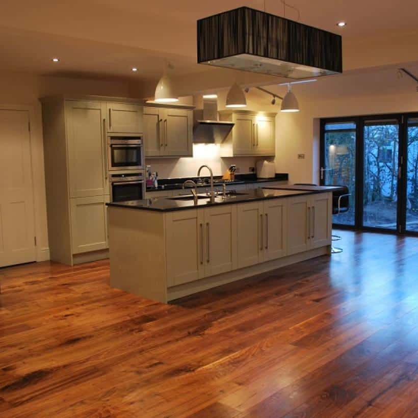 engineered oak floor in kitchen