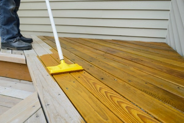 exterior paint or wood stain