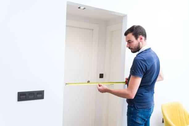 folding door measurement