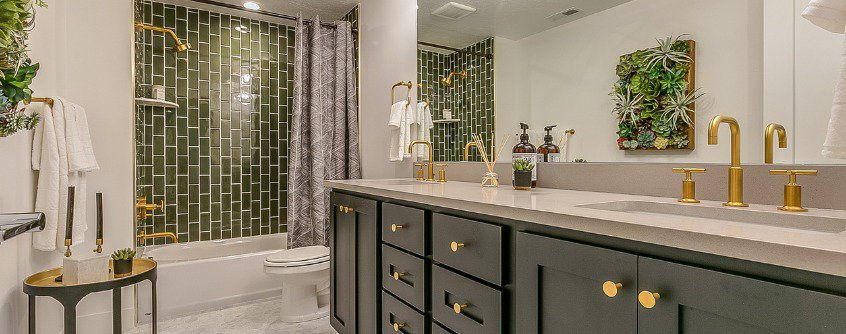 green-tile-gives-beauty-and-unique-charm-to-this-basement-bathroom