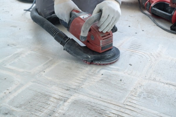 grinding thinset off concrete