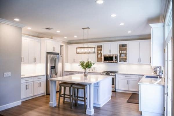 kitchen white countertops