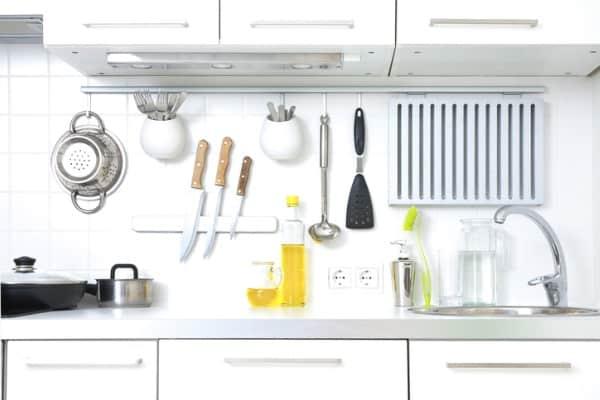 organized white modern kitchen
