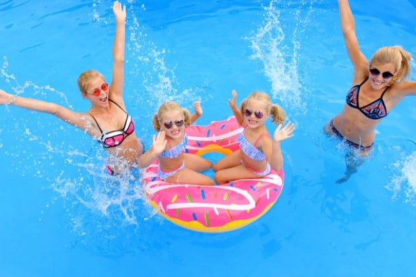pool party with kids