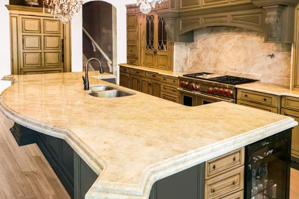 quartz countertop stain