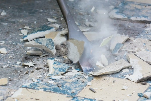 removal of old floor adhesive