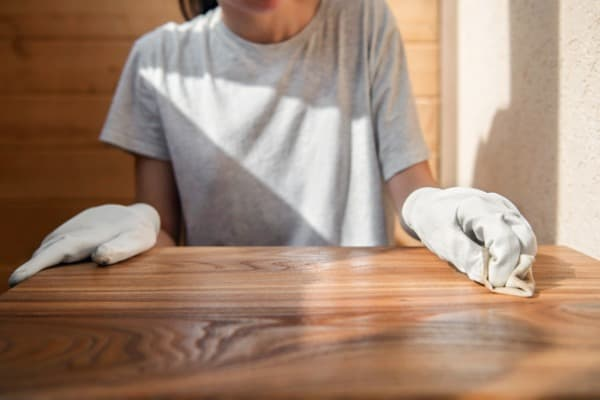 remove wax from wood