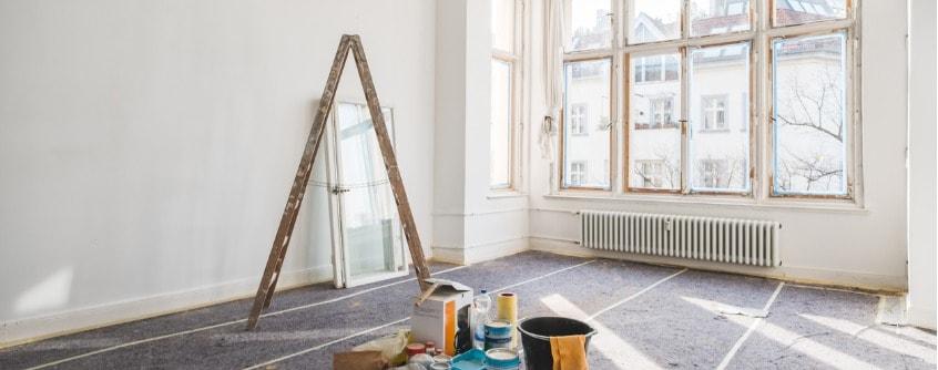 renovation concept room in old building during restoration