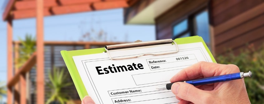 Getting estimate to build a house