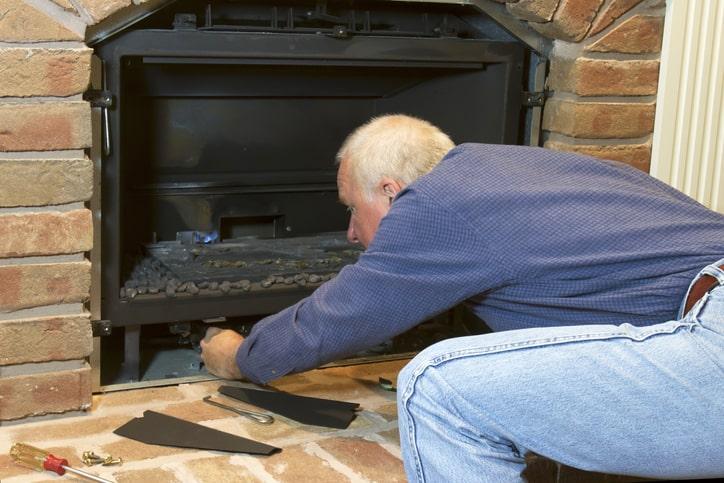 repairing gas fireplace