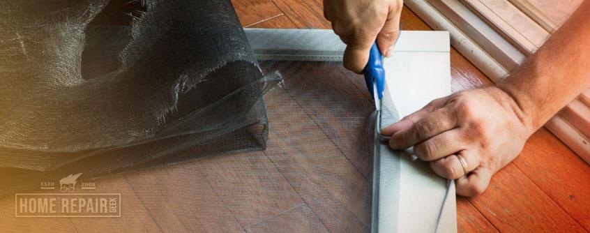 Replace a sliding screen door
