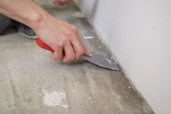 scrape the floor as much as possible
