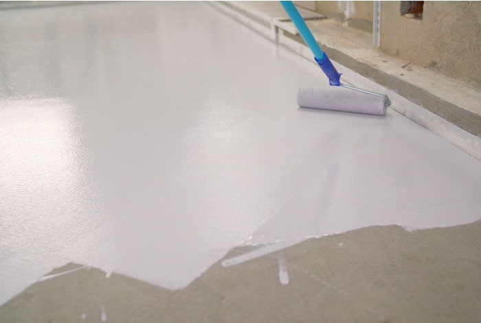 sealing concrete against wood stains
