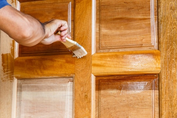 sealing or staining a wood door