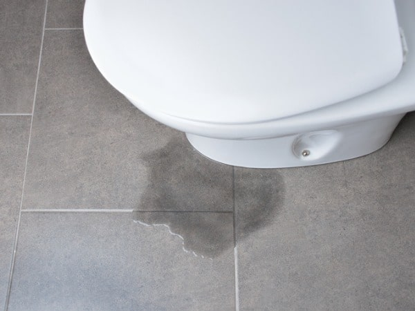 Toilet bowl sweating water
