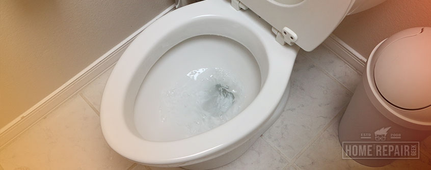 Toilet flushing slow