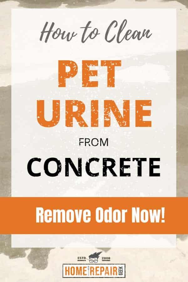 urine off concrete pin