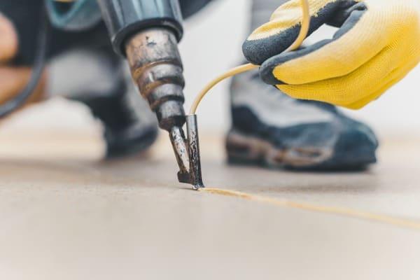 using heat gun to remove glue 1
