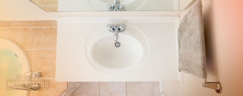 Fix a loose wall-mounted sink